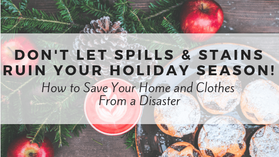 How to clean up spills and stains on clothes, carpet and upholstery