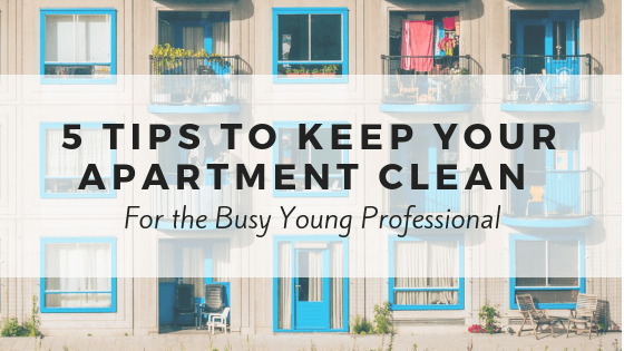 5 tips to keep your apartment clean for the busy young professional