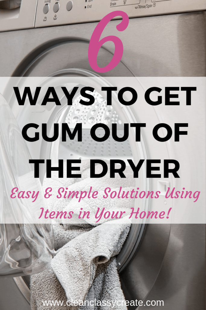 How To Get Gum Out Of The Dryer (6 Easy Ways To Get This